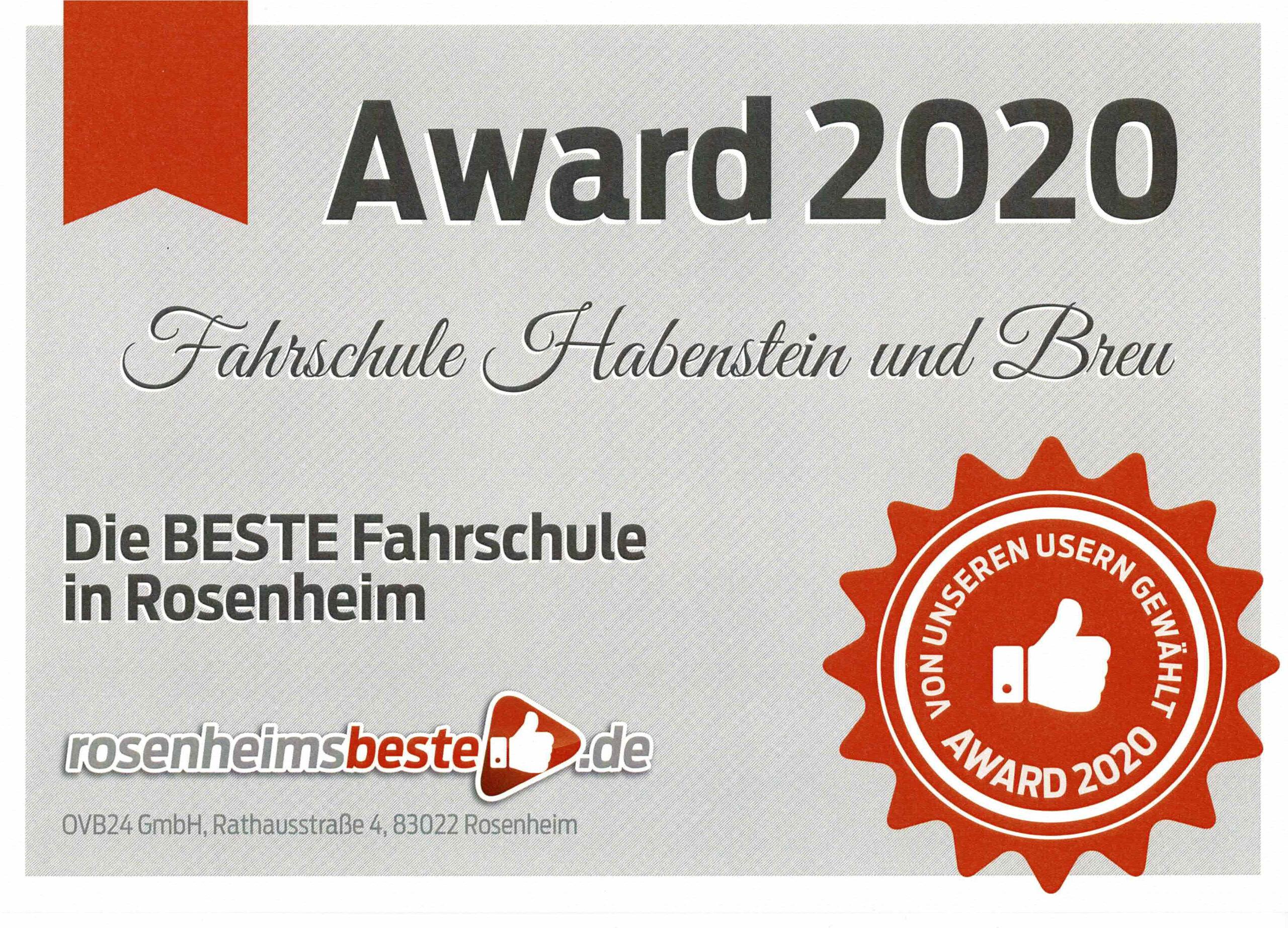 Rosenheims Beste Fahrschule 2020
