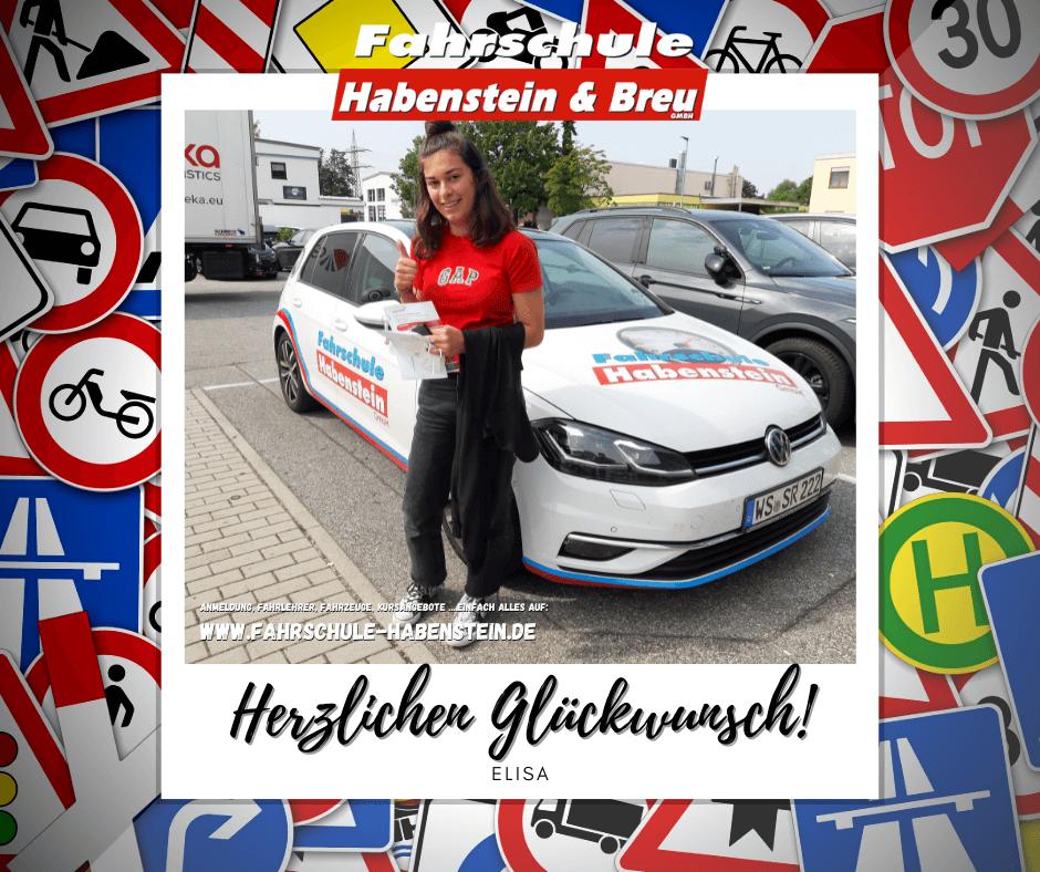 Herzlichen Glückwunsch zur bestandenen Führerscheinprüfung Elisa! Auto - Führerschein - Rosenheim