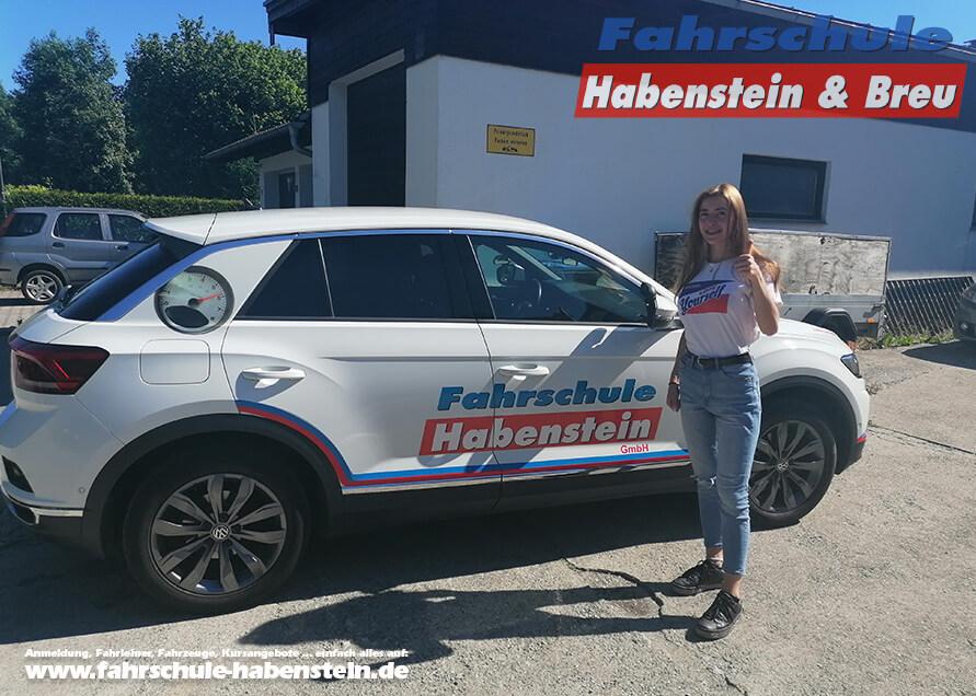 Herzlichen Glückwunsch zur bestandenen Führerscheinprüfung liebe Gloria! Fahrschule - Rosenheim - Motorrad