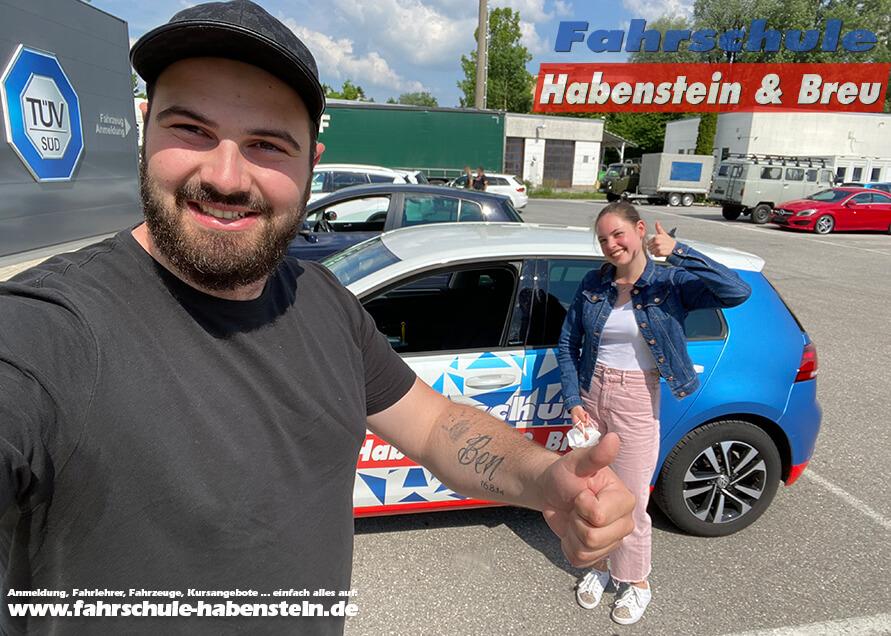 Herzlichen Glückwunsch zur bestandenen Führerscheinprüfung liebe Luisa! Fahrschule - Rosenheim - Auto