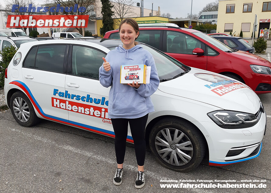Herzlichen Glückwunsch zur bestandenen Führerscheinprüfung lieber Fabienne!