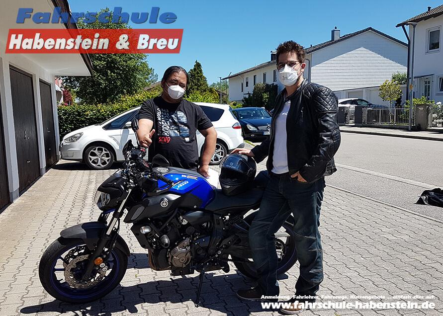 Herzlichen Glückwunsch zur bestandenen Führerscheinprüfung lieber Markus und Jan! Fahrschule - Rosenheim - Motorrad