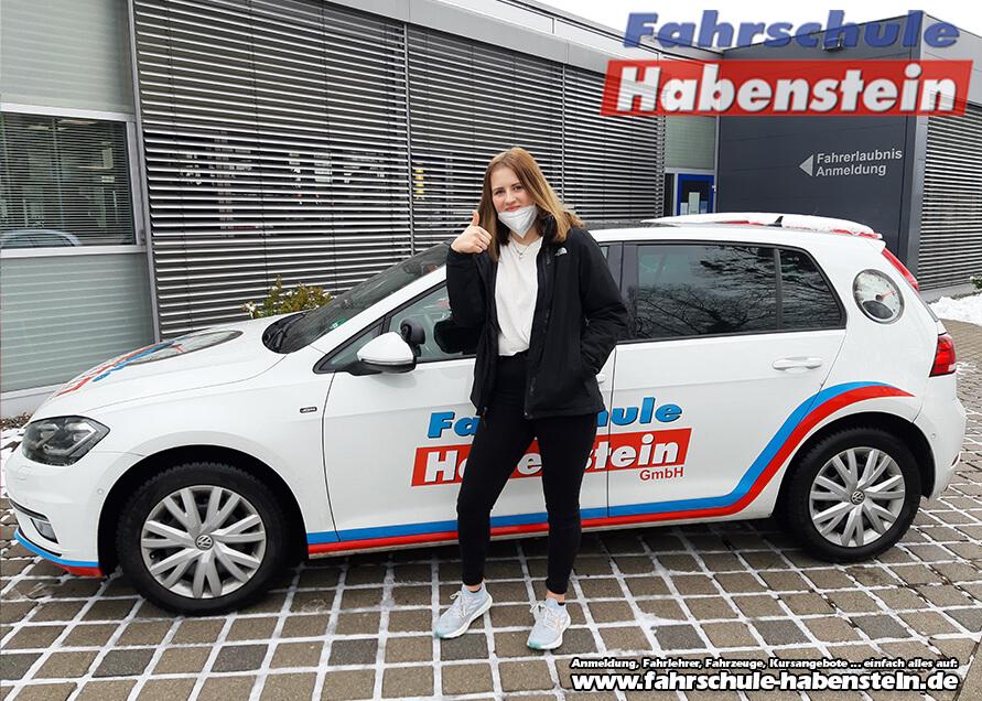 Herzlichen Glückwunsch zur bestandenen Prüfung Miriam! Führerschein - Rosenheim - Klasse B
