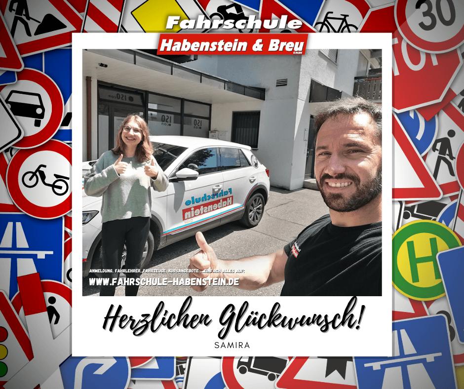 Herzlichen Glückwunsch zur bestandenen Prüfung liebe Samira! Führerschein - Rosenheim - B96