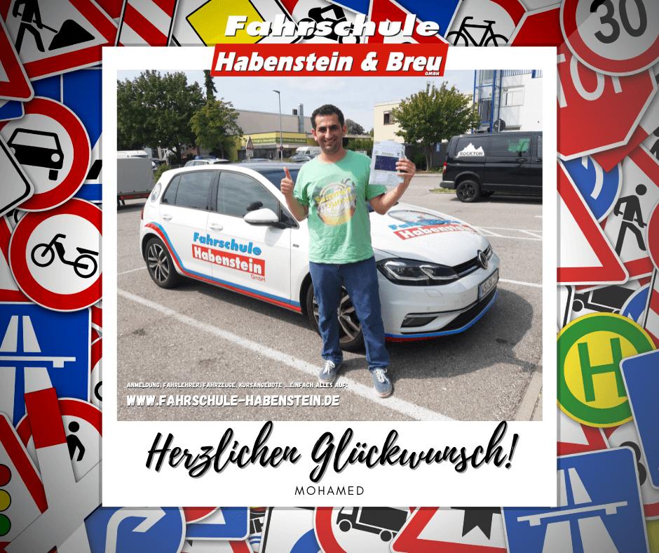 Herzlichen Glückwunsch zur bestandenen Führerscheinprüfung lieber Mohamed! Auto - Rosenheim - PKW